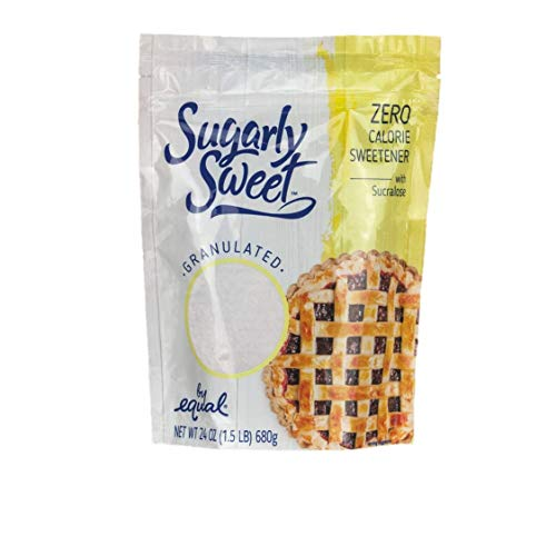 SUGARLY SWEET Zero Calorie Granulated Sweetener with Sucralose, Baking Blend, Sugar Substitute, Sugar Alternative, 1.5 Pound Bag (24 Ounces)