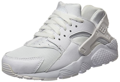 Nike Huarache Run Gs, Baskets Basses Garçon, Blanc (White/White-Pure Gris Platinum), 35.5 EU