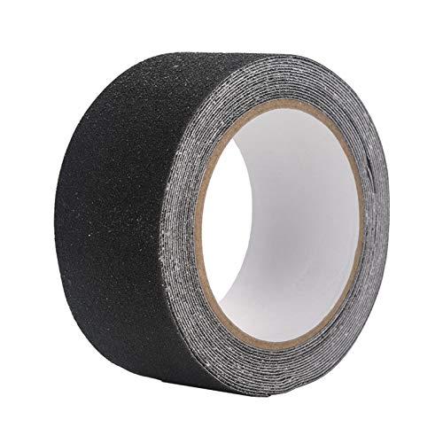 Kuuleyn Cinta Antideslizante, Colorida Cinta Adhesiva Antideslizante Antideslizante de PVC de 5 M * 5 cm para decoración de Seguridad de Piso de escalón(Negro)