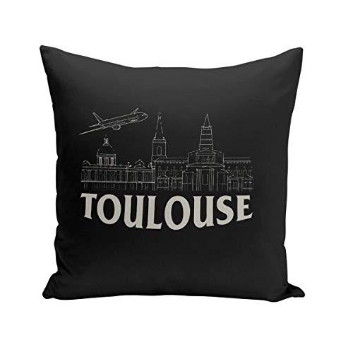Coussin 40x40 cm Toulouse Minimalist Ville France Symbole Capitole