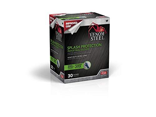 VEN6025 Venom Steel Latex Gloves, Splash Protection, Blue (Pack of 30)