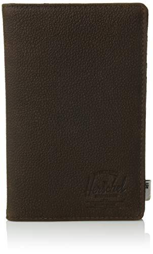 Herschel Zoek Paspoort Houder Tegel Slim RFID, Bruin Pebbled Nubuck