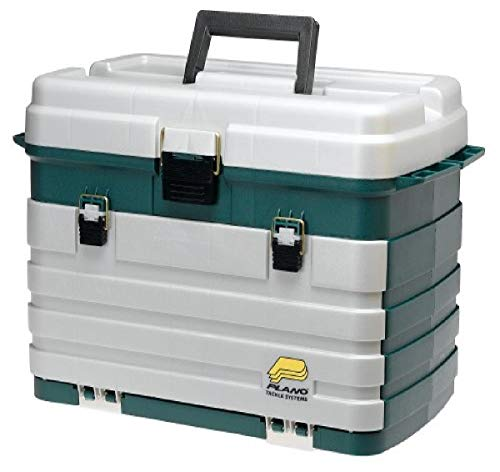Plano 4-Drawer Tackle Box Green Metallic/Silver ,One Size