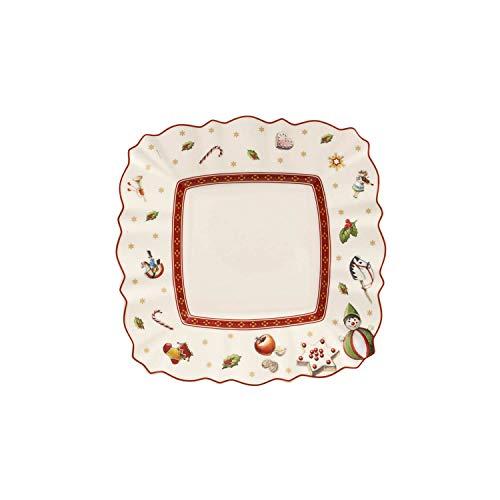 Villeroy & Boch Toy's Delight Piatto da Pane, Quadrato, Porcellana, Bianco/Multicolore, 17x17x0.1 cm