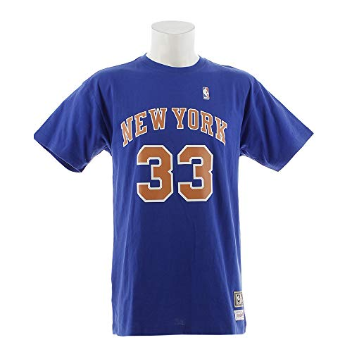Mitchell & Ness Patrick Ewing New York Knicks NBA Men's Player S/S T-Shirt Blue