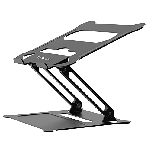 Targeal Adjustable Laptop Stand,Portable Laptop Computer Stand Riser&Multi-Angle Stand with Heat-Vent to Elevate Laptop Holder for Mac,Notebook,Lenovo More10-17 Laptops (Black)
