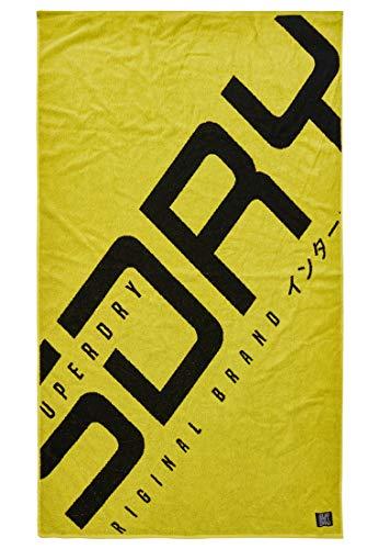 Superdry Hyper Logo Beach Towel Neon Yellow