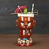 Copas de cóctel, Tiki Gafas para cócteles, Tiki Tazas Tiki Webware Ceramic Hawaiian-Lindo Cóctel exótico Gafas de cóctel Tiki Bar Profesional Hawaiian Party Barware (450ml) (Color : Mlqz)