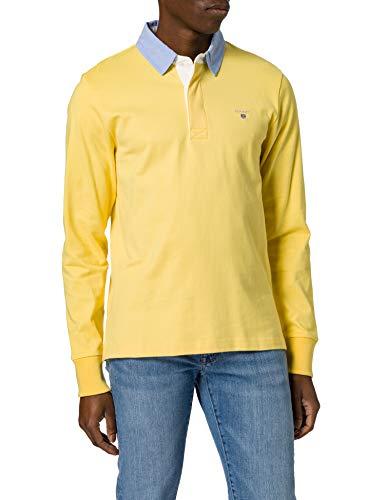 GANT Original Heavy Rugger Camisa de Polo, Amarillo azufre, XXXXXL para Hombre