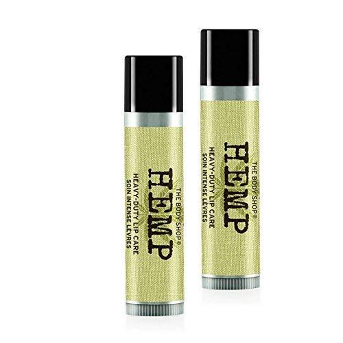 Der Body Shop Hanf Lippenpflege-Hanf Lippenbalsam-Hanf Lippenstift 4,2 g - Packung mit 2 / The Body Shop Hemp Lip Care-Hemp Lip Balm-Hemp Lip Stick 4.2g - Pack of 2