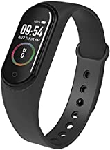Wazdorf M4 Band with Activity Tracker | Waterproof Technology | Pedometer | Heart Beat Sensor | Blood Pressure Monitor Compatible with Android and iOS Devices (Random Colour)