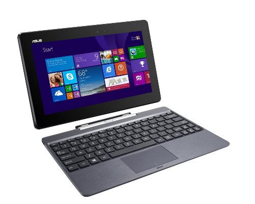 ASUS Transformer Book T100TAF-B14-GR 2-in-1 Tablet Intel Atom Z3735F (1.33 GHz) 32 GB eMMC Intel HD Graphics Shared memory 10.1' Touchscreen Windows 8.1(Renewed)