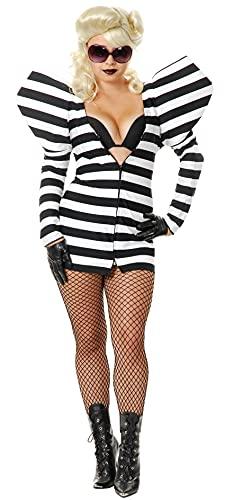 Charades Damen Prisoner of Love Costume Erwachsenenkostme, schwarz/weiß, Small