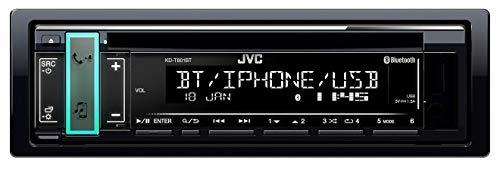JVC KD-T801BT Bluetooth CD Tuner, Flachpanel, USB, AUX