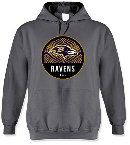 NFL Baltimore Ravens Men's Team Graphic Gray Hoodie, Gray, Large