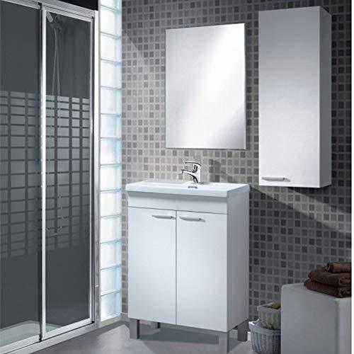 Mueble Baño + Espejo + Lavabo de ABS + Columna con Grifería...