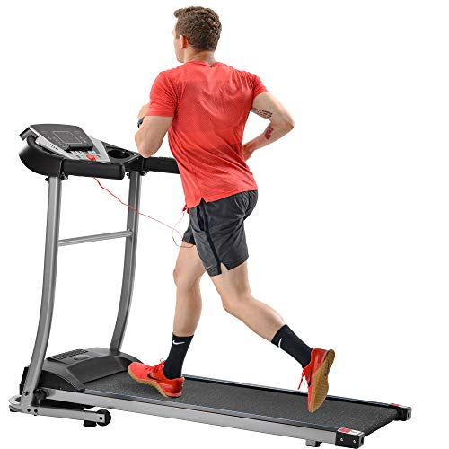 JUSNOVA Treadmill for Home,Folding Electric Treadmill,Treadmill for Home Gym with 12 Preset Programs,Treadmills for Home,with LCD,Easy Assembly,Motorized Running Machine,Black