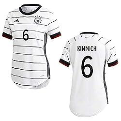 adidas UEFA Fußball DFB Deutschland Home Heim Trikot EM 2020 Damen Kimmich 6 Gr XS