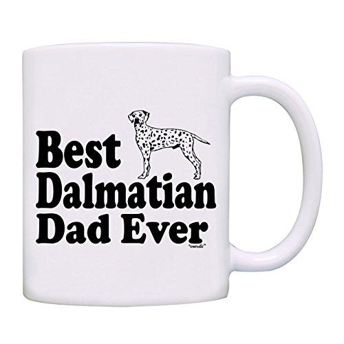 Mug Best Dalmatian Dad Ever - Taza de café (0091), color blanco