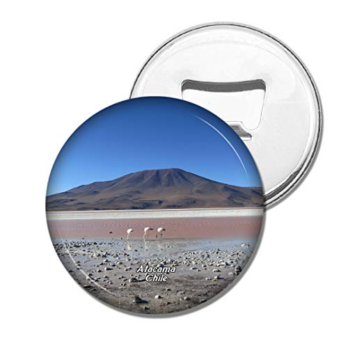 Weekino Flamants Roses, lac salé, désert d 'Atacama, Chili Bière Ouvre-Bouteille Aimant De Réfrigérateur Voyage Souvenir Autocollant de réfrigérateur Fort