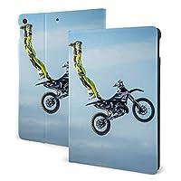 モトクロスバイクハイジャンプエクストリームスポーツ IPAD 革製ケース PU 保護ケースカ 全面保護 傷つけ防止 多機能 ipad 10.2 inch 10.5 inch 装飾 ユニセックス