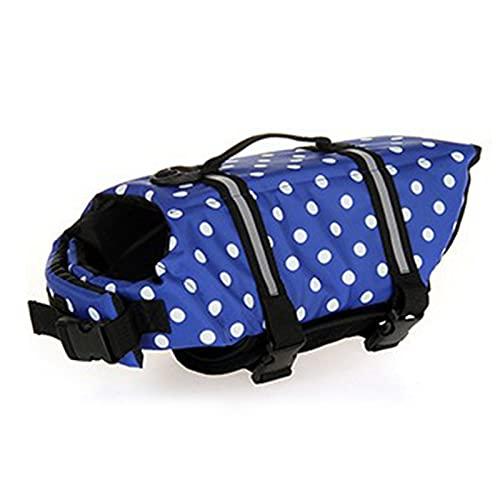 Q-YR Chaleco Salvavidas para Perros Vestimiento De Alta Visibilidad Chaleco De Baño para La Piscina De Playa En Bote para Cachorros Pequeños/Medianos/Grandes,4,M