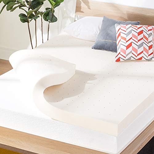 Best Price Mattress 4 Inch Ventilated Memory Foam Mattress Topper, CertiPUR-US Certified, Queen