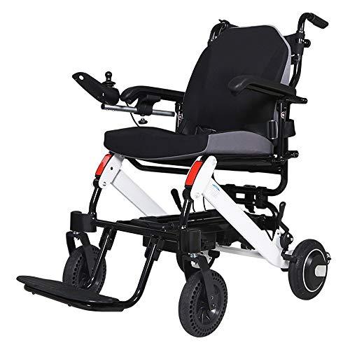 QBYLYF Rollator Transportstuhl Falten Und Reise Leichte Elektro-Rollstuhl, Elektro-Rollstuhl, Scooter Rollstuhl, Gehhilfe