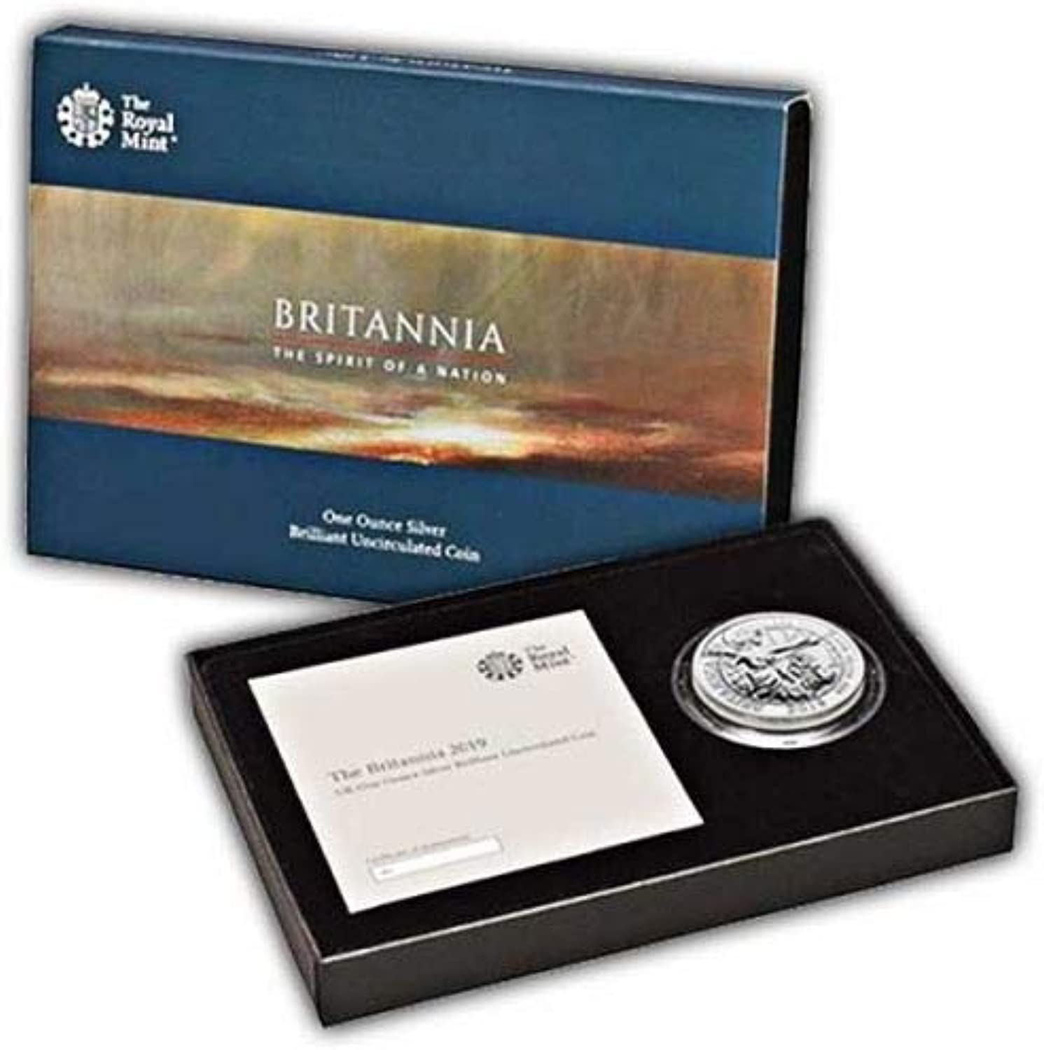 The Britannia 2019 UK Münze, unzirkuliertes Silber, 1 Unze