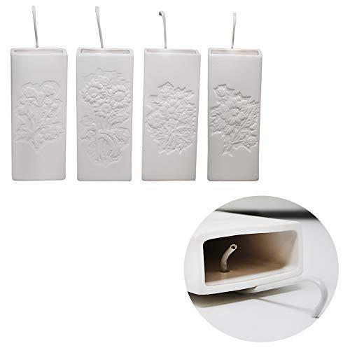 DRULINE Premium Luftbefeuchter 350ml - Angenehmes Raumklima - Optimale Atmung - Hochwertiger Keramik Heizkörper - Robuster Befeuchter für Deine Heizung 4er Set
