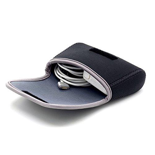 LENTION Aufbewahrungstasche für Zubehör (MacBook, Laptop Stromadapter, kabellose Maus, Handy Ladegerät, Kabel, Powerbank & mehr) (dunkelgrau)