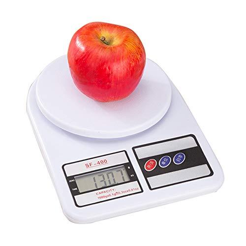 Rpanle Digitale Küchenwaage, 10 kg (1-g-genau) Electronische Kochwaage Lebensmittelwaage Digitalwaage Electronische Waage Haushaltswaage für Zuhause und Küche mit LED-Display, Tara-Funktion