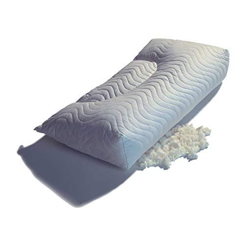 Thomsen Floc Standard - das Beste Nackenkissen aus Talalay Latex-Flocken mit dem Kuschelfeeling (80 x 40 cm, Klimabezug)