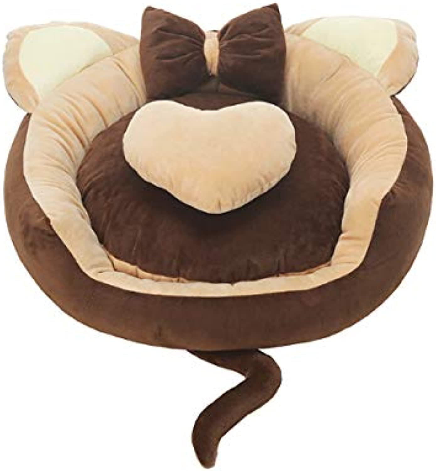 Gaobey SelfWarming Cat and Dog Bed Cushion for Medium large Dogs Short plush (XL Diameter78cm 30.7in, coffee)