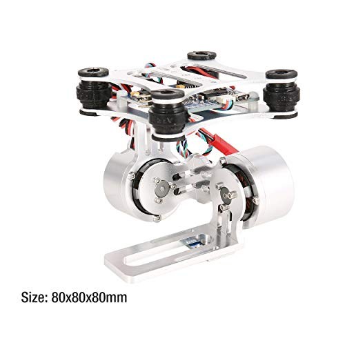 Lorenlli Ajuste HAKRC 2 Ejes CNC Metal Brushless BGC2.2 PTZ Panel de Control Gimbal Stabilizer para cámara Drone RC Fit Gopro3 dji Phantom