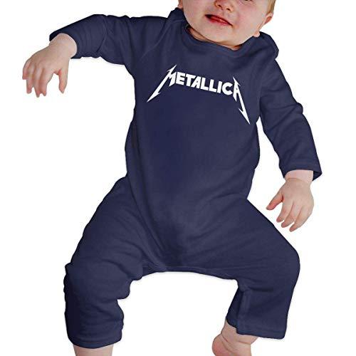Metallica Band Lovely Baby Manga Larga Onesies Body Cotton Infant Romper Pijama para niños niñas
