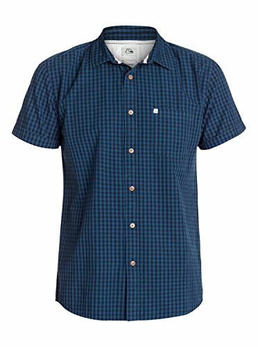Quiksilver Dewsbery Chemise manches courtes Homme Holbeck Navy Blazer FR : XL (Taille Fabricant : XL)