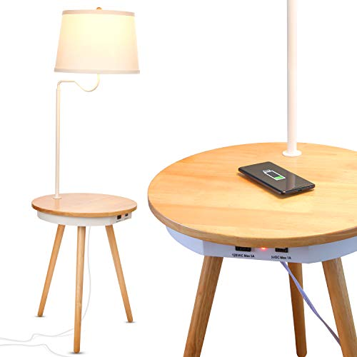 Brightech Owen - End Table with Lamp