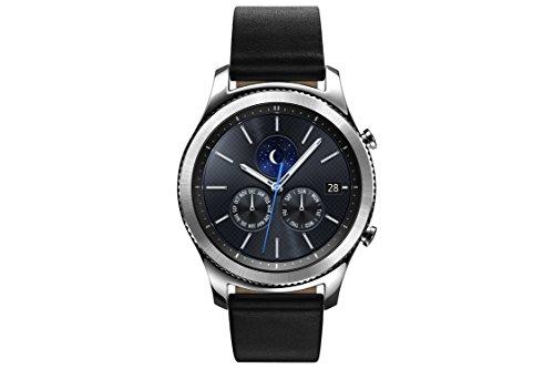 SAMSUNG Gear S3 Classic - Reloj Inteligente, 8 x 5 x 8 cm, Color Plata- Versión Extranjera
