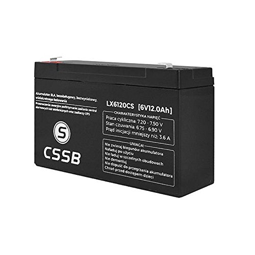 CSSB Gel-accu, AGM, gelaccu 6V 12Ah