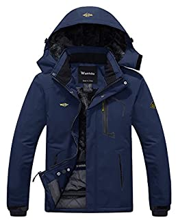 Wantdo Men's Waterproof Ski Jacket Windproof Parka Warm Winter Rain Coat Navy L (B079BHSQD6) | Amazon price tracker / tracking, Amazon price history charts, Amazon price watches, Amazon price drop alerts