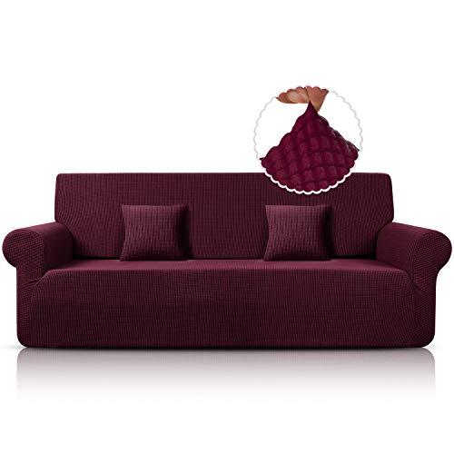 Taococo Funda para sofá de jacquard, elástica, de elastano