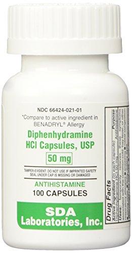 Diphenhydramine 50mg Capsules 100ct Btl (Pack of 2)