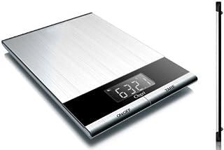 Ozeri ZK010 Ultra Thin Professional Digital Kitchen Food Scale, Elegant Stainless Steel