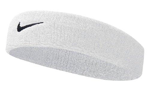 Nike UnisexErwachsene Swoosh Headband/Stirnband, Weiß (White/black), Einheitsgröße