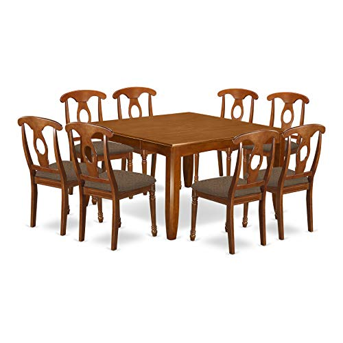 9 Pc Dining room set-Kitchen Table with Leaf and 8 Dinette Chairs.