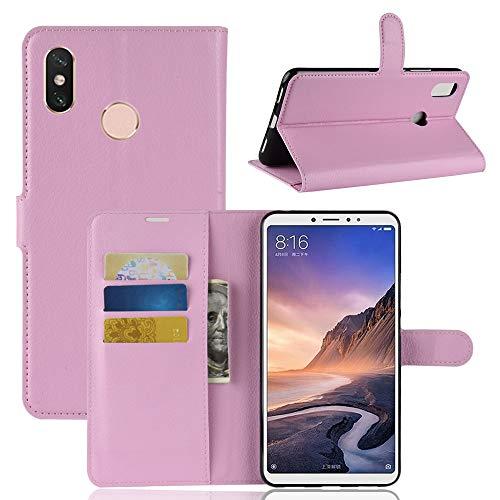 Capa Capinha Carteira Case 360 Para Xiaomi Mi Max 3 Tela De 6.9Couro Sintético Flip Wallet Para Cartão - Pronta Entrega (Rosa Claro)