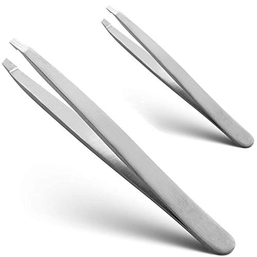 Tweezers-Surgical Grade Stainless Steel, Professional Eyebrow Trimming And Facial Hair Removal-Best Tools For Men And Women