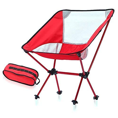 QTWW Chaise de Jardin Pliante Ultra-légère, Chaise d extérieur Portable compacte avec Sac fourre-Tout, Sac à Dos de Plage pour Barbecue, etc, capacité de 150 kg (Couleur: D)