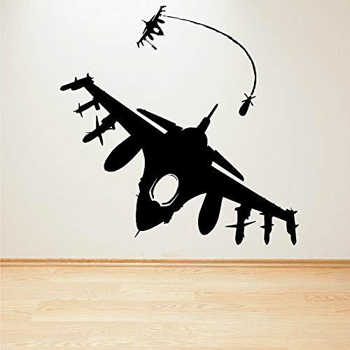 Fighter missile wall decal bombardero melee air combat aviones vinilo pegatinas de pared niños dormitorio sala de juegos decoración del hogar